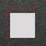 42 inch by 42 inch Square Fiberglass Top