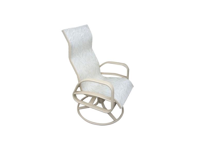 E 351 High Back Swivel Rocker Patio Chair