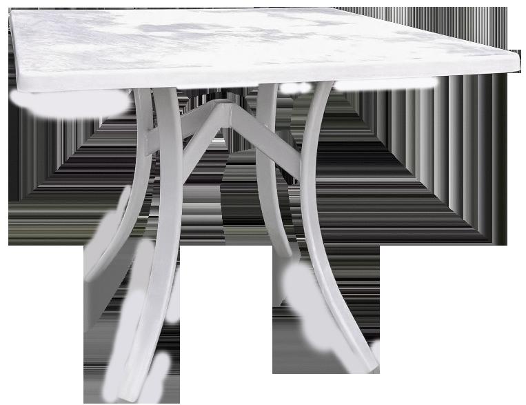 Square Fiberglass Dining Table
