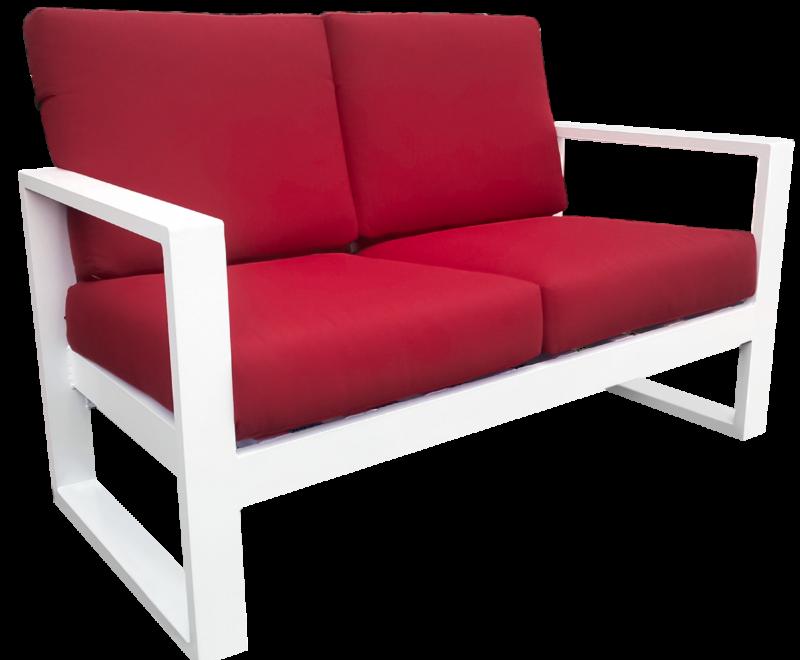 Hurricane Cushion Love Seat