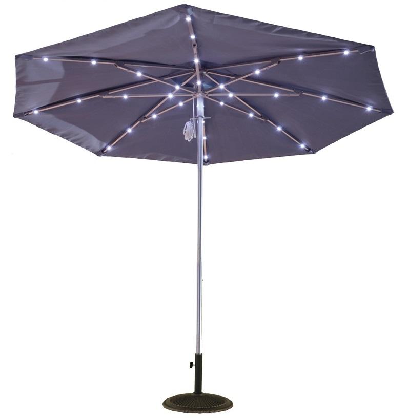 9ft solar light umbrella for Solar patio umbrella replacement parts