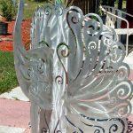 aluminum-peacock