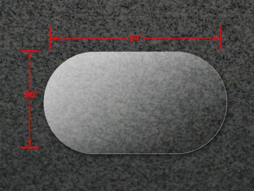 36x54A Oval Acrylic Top 1