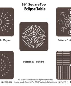 E-36SQPUNCH - 36 inch Square Table