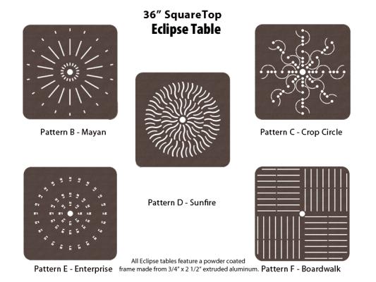 E-36SQPUNCH – 36 inch Square Table 1
