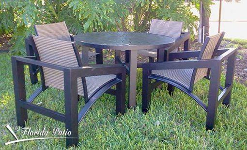 Modern Aluminum Outdoor Furniture – The Millennium Set 1