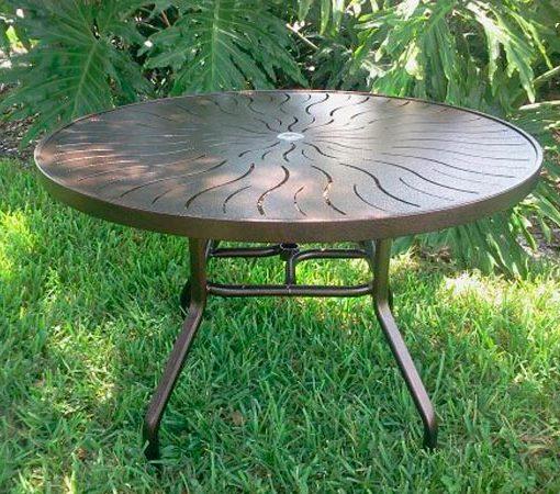 48 Inch Round Aluminum Patio Table U2013 R 48P 1