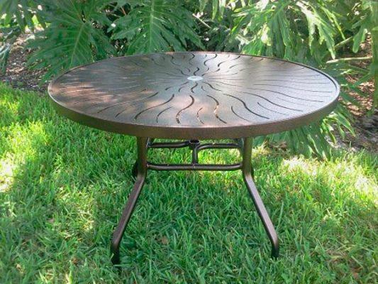 48 inch Round Aluminum Patio Table – R-48P 1