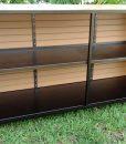 Eco Wood Two Shelf Bar