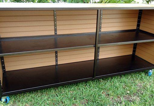 Eco Wood Two Shelf Bar 1
