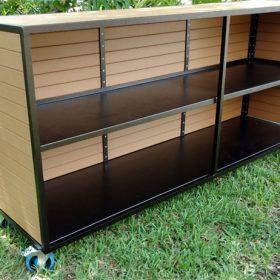 Eco Wood Two Shelf Bar 2