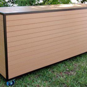 Eco Wood Two Shelf Bar 3