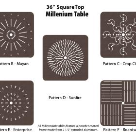 Aluminum Square Table - M-36SQPUNCH - 36 inch Square Table