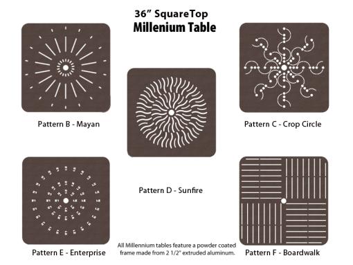 Aluminum Square Table – M-36SQPUNCH – 36 inch Square Table 1