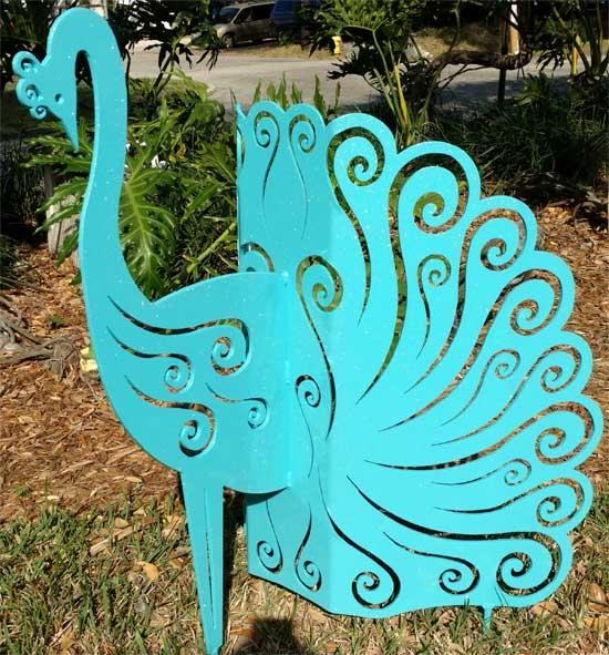 Aluminum Peacock