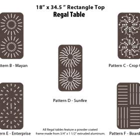 R-18X34SQPUNCH - 18 by 34 inch Rectangular Table