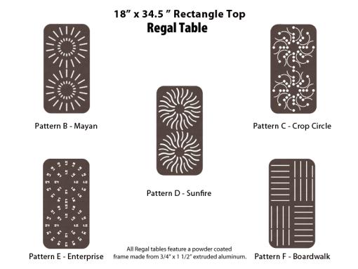 R-18X34SQPUNCH – 18 by 34 inch Rectangular Table 1