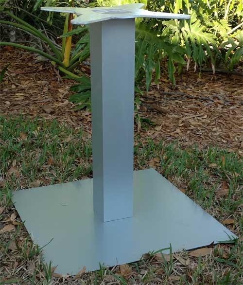 Square Pedestal Table Base 1
