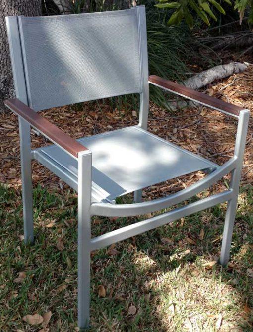 Alpha Sling Teak Arm Chair
