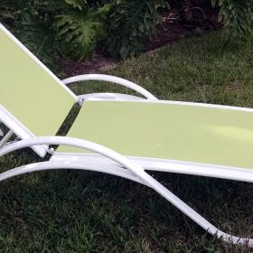 Garden Green Sling Chaise Lounge 2
