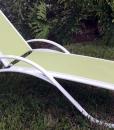 Garden Green Sling Chaise Lounge 3