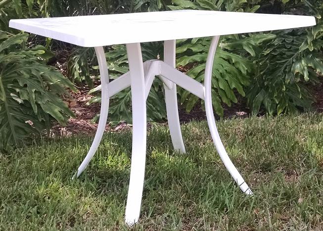 Square Fiberglass Dining Table Florida Patio Outdoor