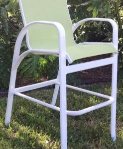 Garden Green Sling Bar Chair