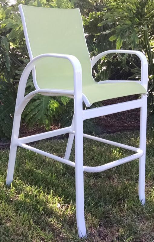 Garden Green Sling Bar Chair 1