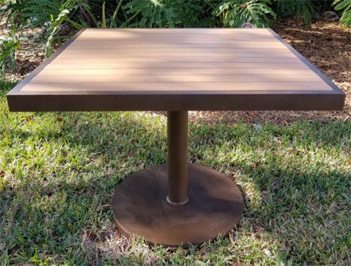 Eco Wood Pedestal Base Table