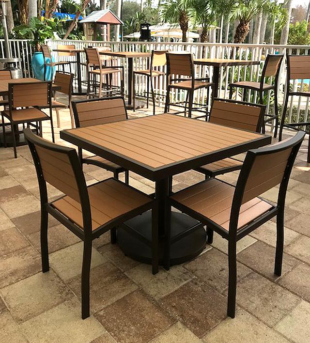 Faux Teak Florida Patio Outdoor Patio Furniture