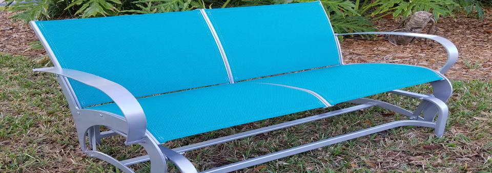 Sling Glider Love Seat