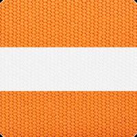 Orange & White Strip